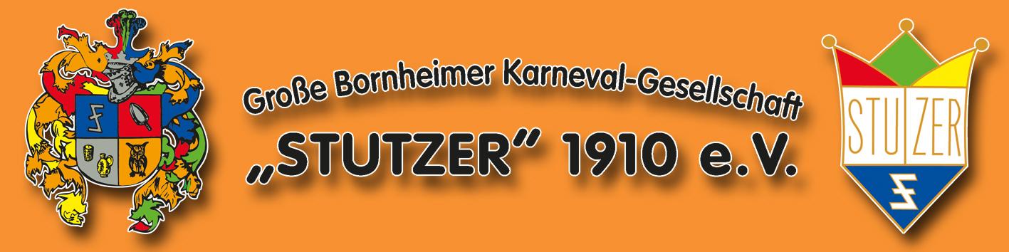 """Große Bornheimer Karnevalgesellschaft """"Stutzer"""" 1910 e.V. Logo"""